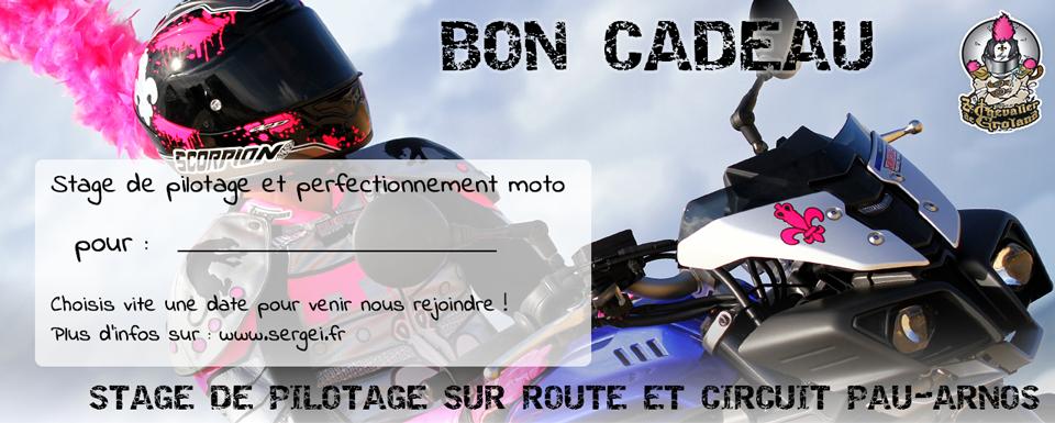 Bon cadeau - Stage pilotage & perfectionnement moto